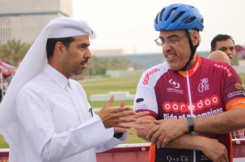 Dr Abdulaziz Alkuwari, President Qatar Cyclists Centre, and Mr. Hassan Al EMadi, General Manager - Dolphin Energy